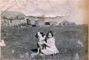 A very small and badly damaged old photo